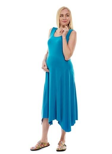 Motherway Maternity Elbise Yeşil